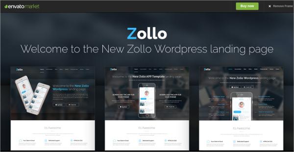 zollo v2 html landing page