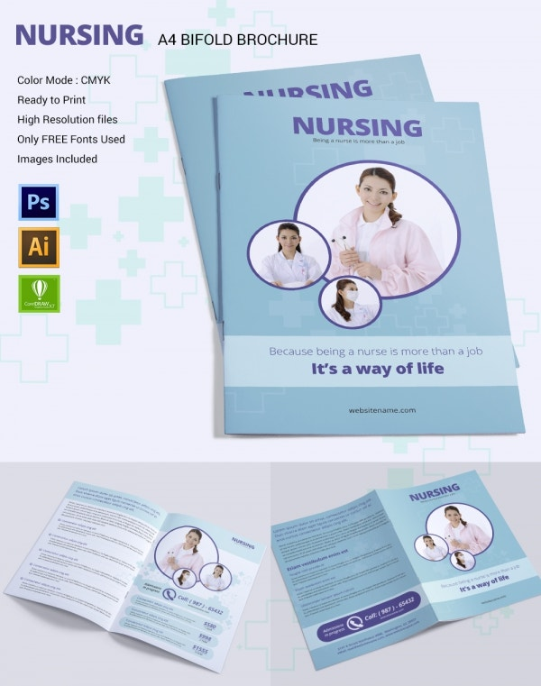 Nursing Template PSD AI CDR Format Download Free - Breastfeeding brochure templates