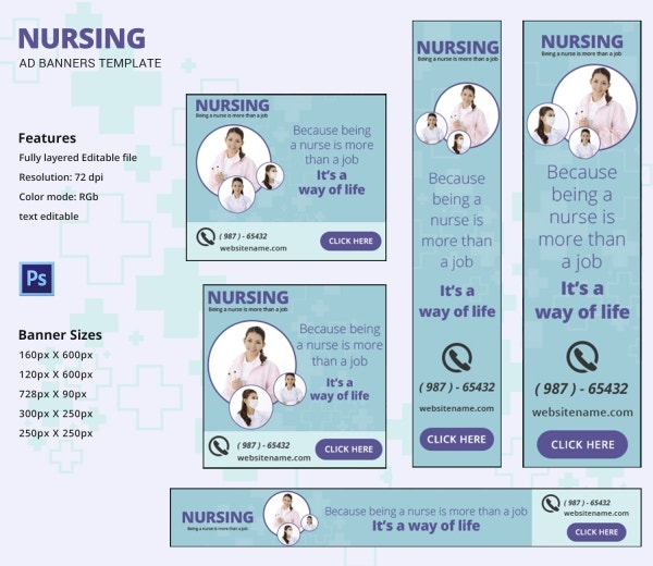 Nursing Banner Ads Template