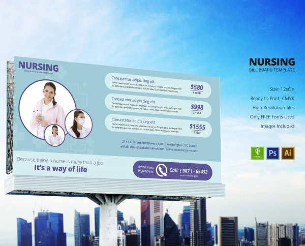 nursing billboard ads design