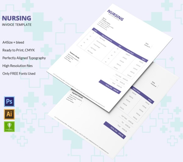 Nursing Invoice Template Design