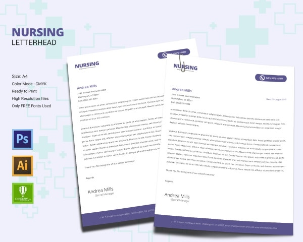 nursing letterhead design template