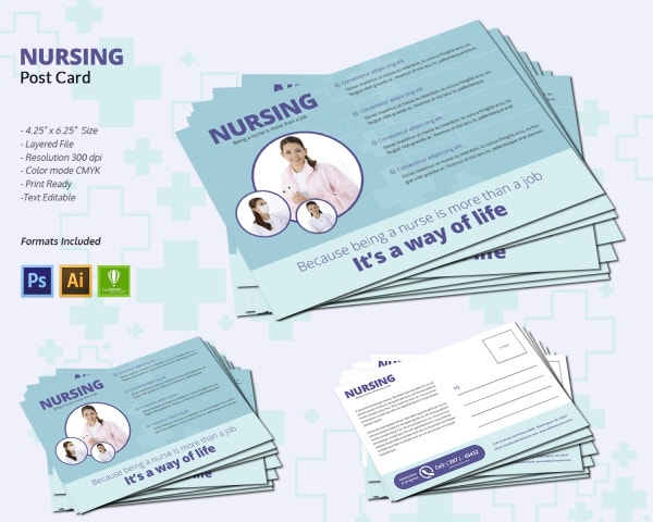 Nursing Postcard Design