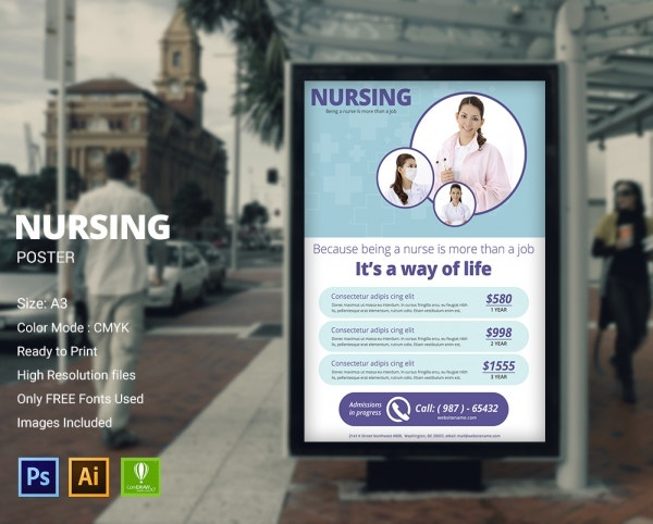 nursing poster design