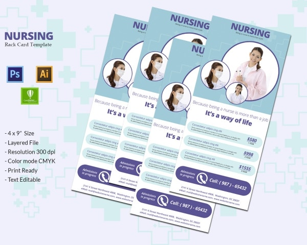 Nursing Rackcard Template