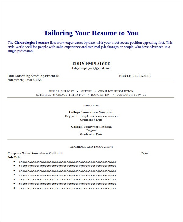 Alterations Seamstress Resume