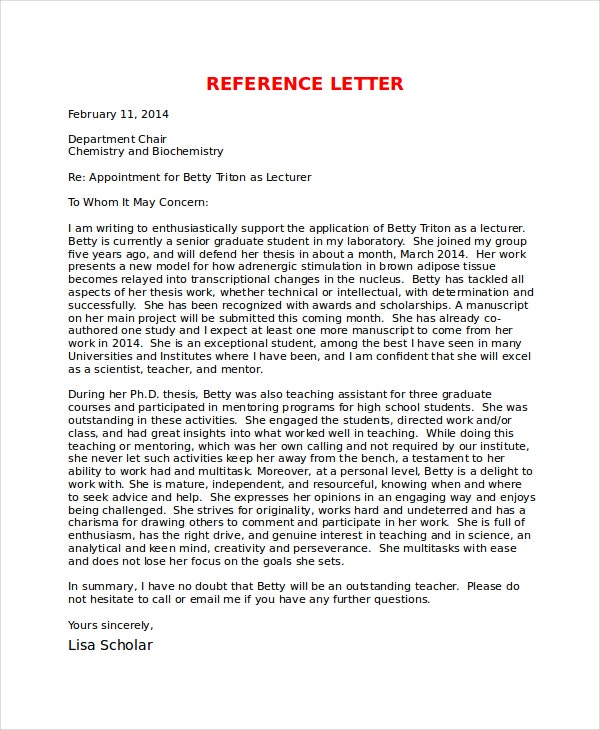 5 Reference Letter For Friend Templates Free Sample Example – Recommendation Letter for a Friend