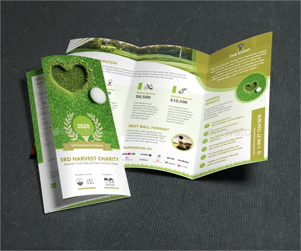 Golf Brochure Template Golf Tournament Tri Fold Brochure Template