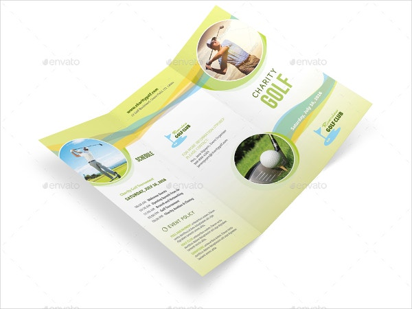 Charity Golf Trifold Brochure