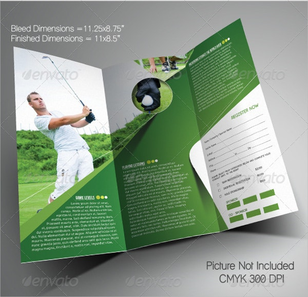 golf brochure template 12 golf brochures free psd ai eps format download
