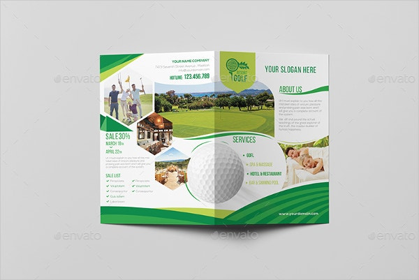 Golf Brochures Free PSD AI EPS Format Download Free - A5 brochure template