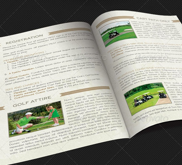 Golf Club Rules Brochure Template