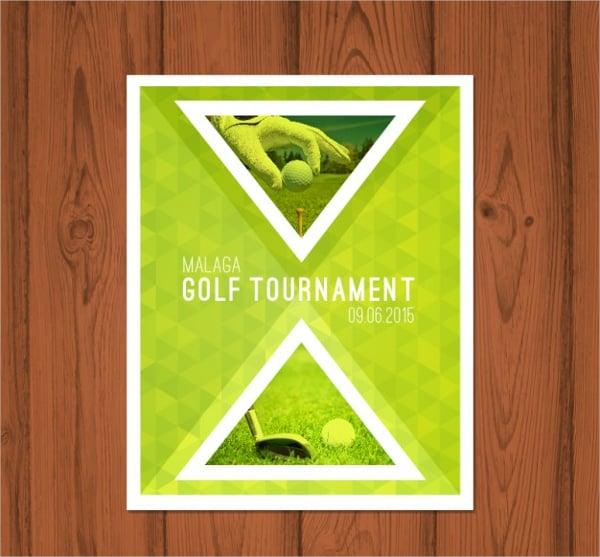 leaflet golf tournament brochure