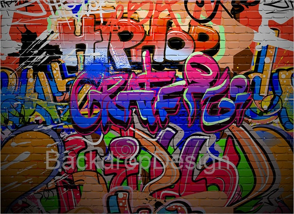 Grunge Colored Graffiti Backdrop