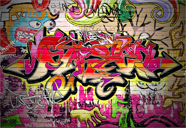Graffiti Wall Backdrop Vector