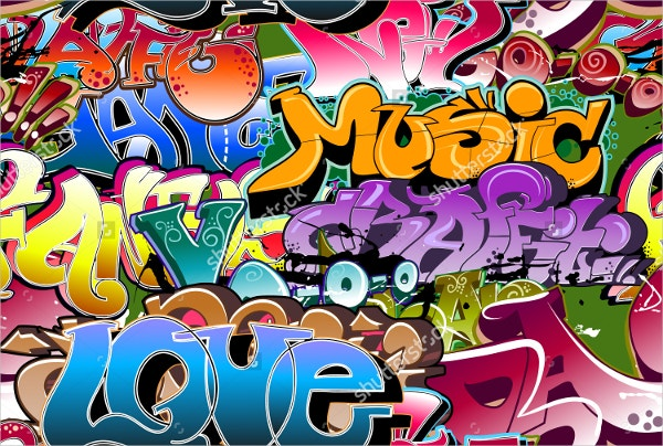 Graffiti Urban Wall Background