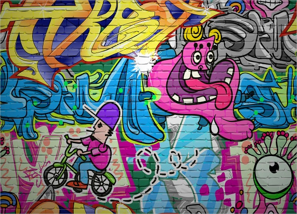 Kids Graffiti Backdrop