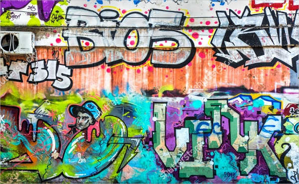 Urban Contemporary Culture Graffiti Backdrop