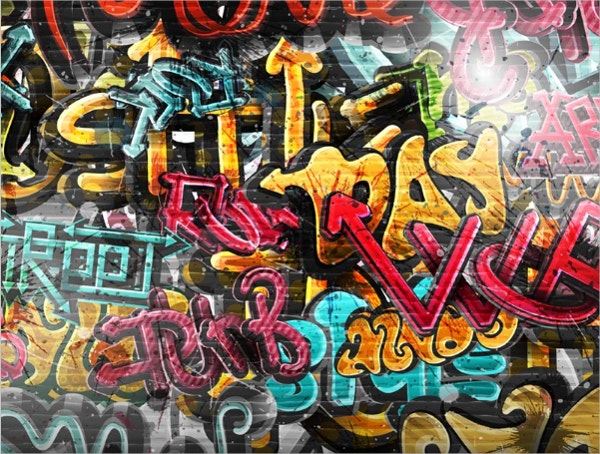 Graffiti Wall Thin Vinyl Photo Backdrops