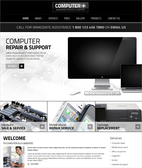computer repair joomla template 29