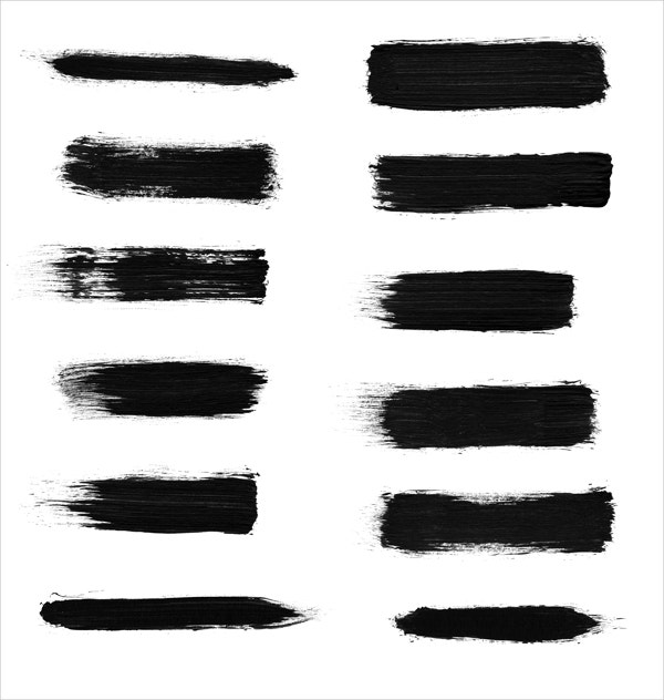 12 high res dry brush stroke brushes