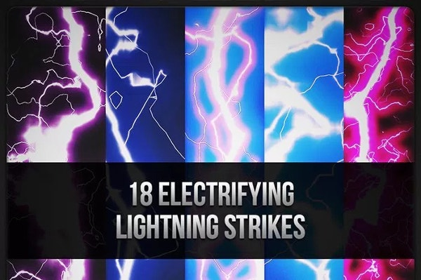 Freebie 18 Electrifying Lightning Strikes