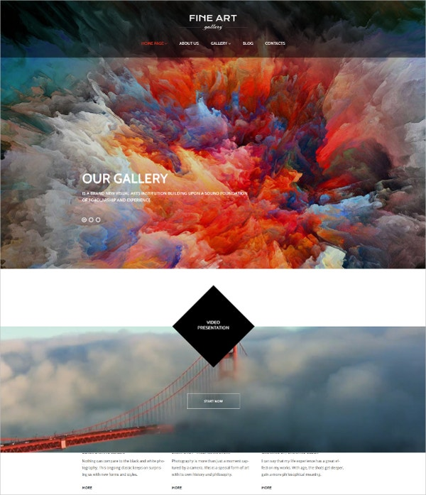 stylish art gallery wordpress theme