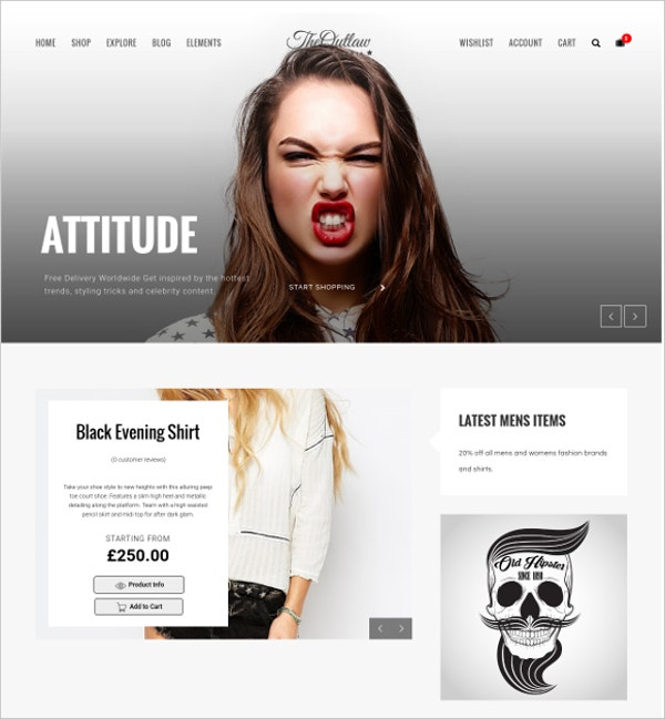 Outlaw Stylish WordPress Theme