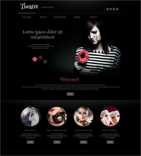Stylish Theatre Responsive WordPress Theme