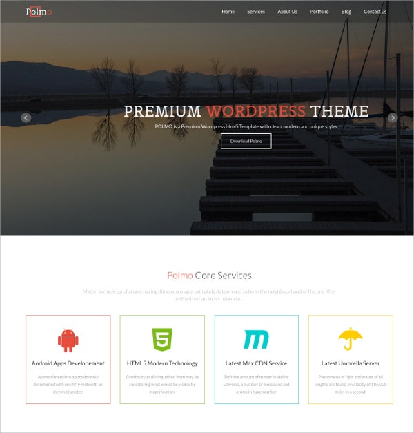 one page free html5 responsive website template