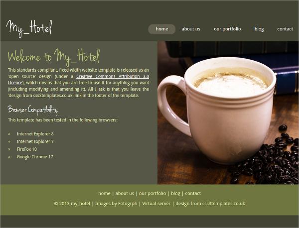 Free Hotel HTML5 Theme