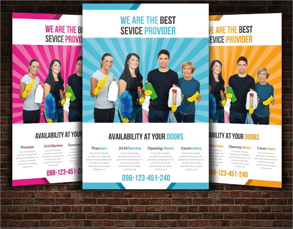 Cleaning Service Flyers  Free Psd Ai Eps Format Download