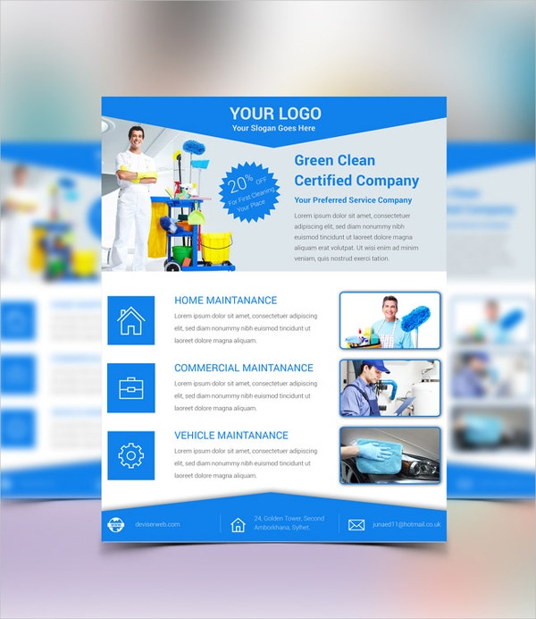 Free Cleaning Service PSD Flyer
