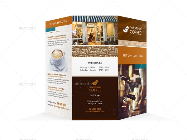 Coffee Shop Brochure Templates  Free Psd Ai Vector Eps