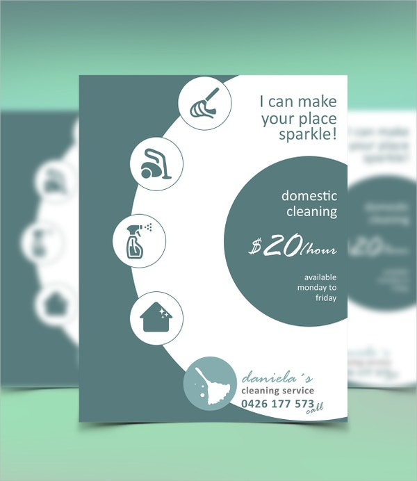Domestic Cleaning Services Flyer