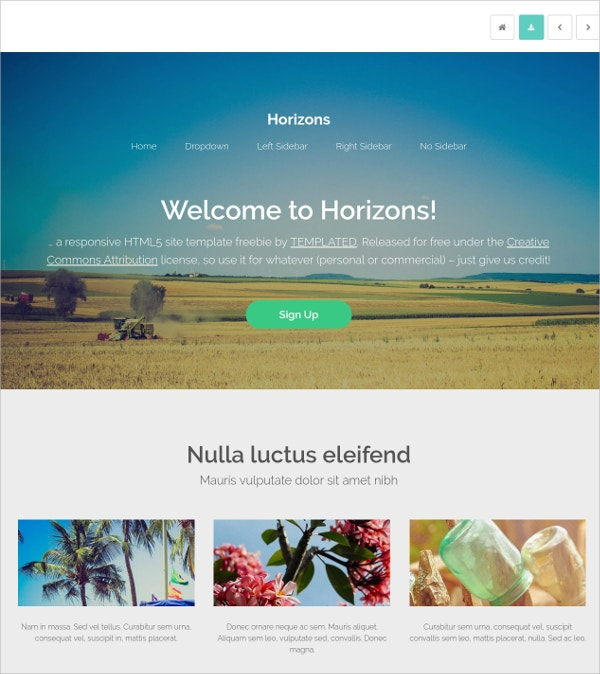 free personal html5 theme