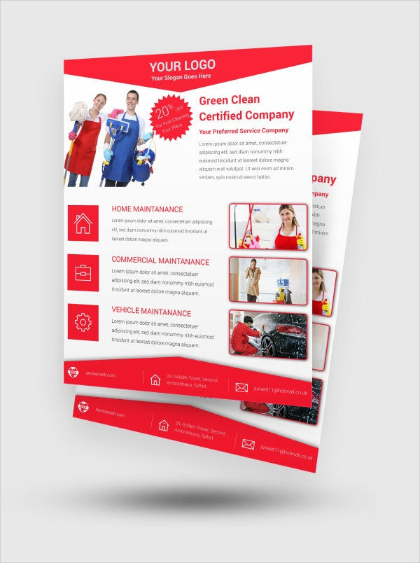 16+ Cleaning Service Flyers - Free Psd, Ai, Eps Format Download