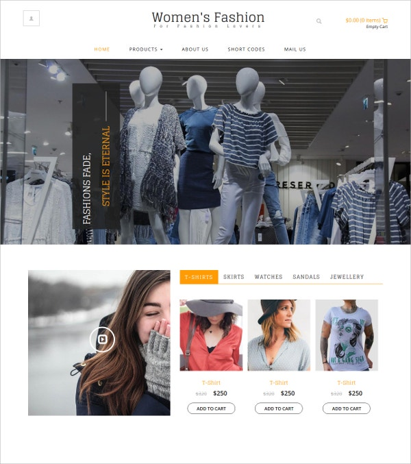 Free Womens Fashion eCommerce HTML5 Template