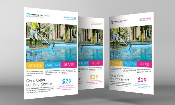 21 cleaning service flyers free psd ai eps format for Pool design templates