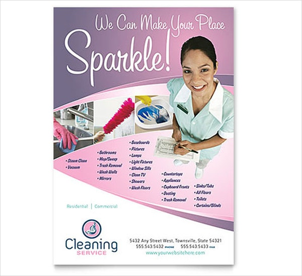 House Cleaning & Maid Services Flyer