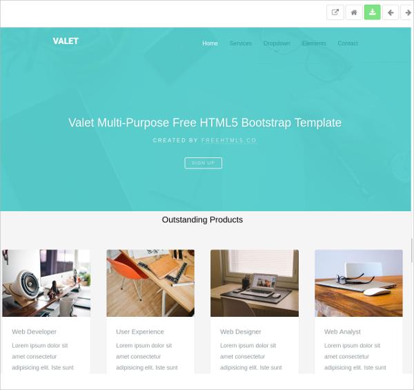 Free Modern Bootstrap HTML5 Theme