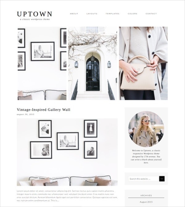 Uptown Stylish WordPress Theme