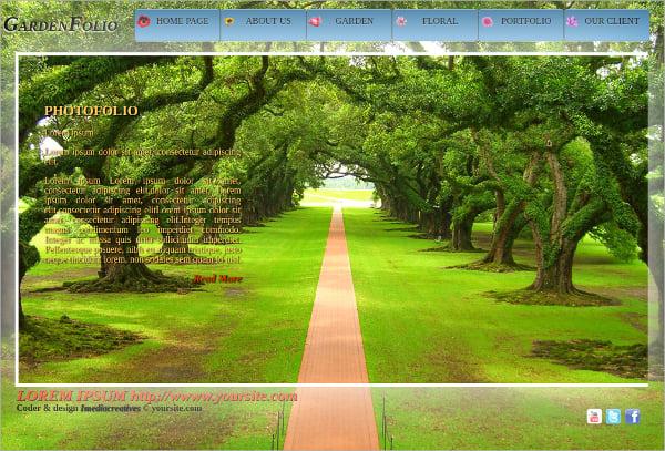 Free Garden Folio HTML5 Theme