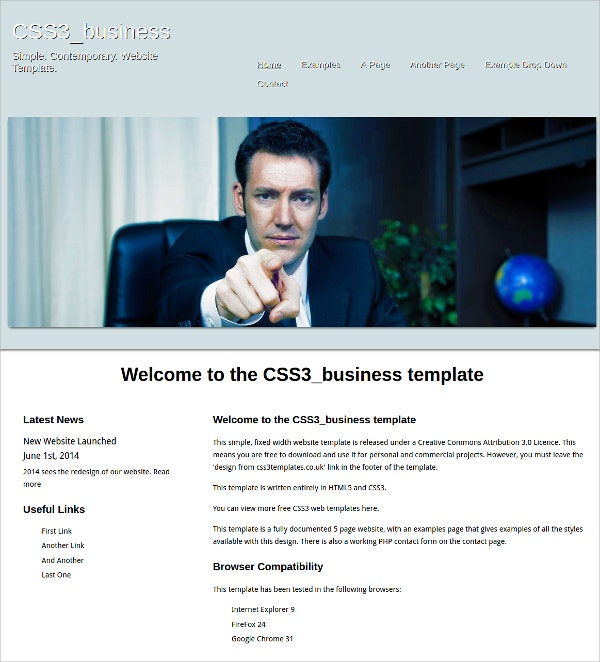Free Business HTML5 Theme