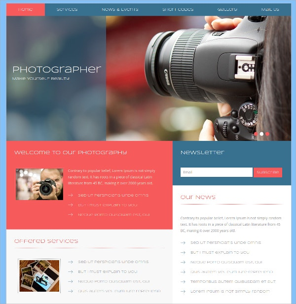 Free Photo Gallery Bootstrap HTML5 Template