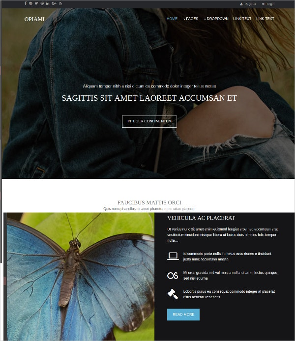 free beautiful html5 template