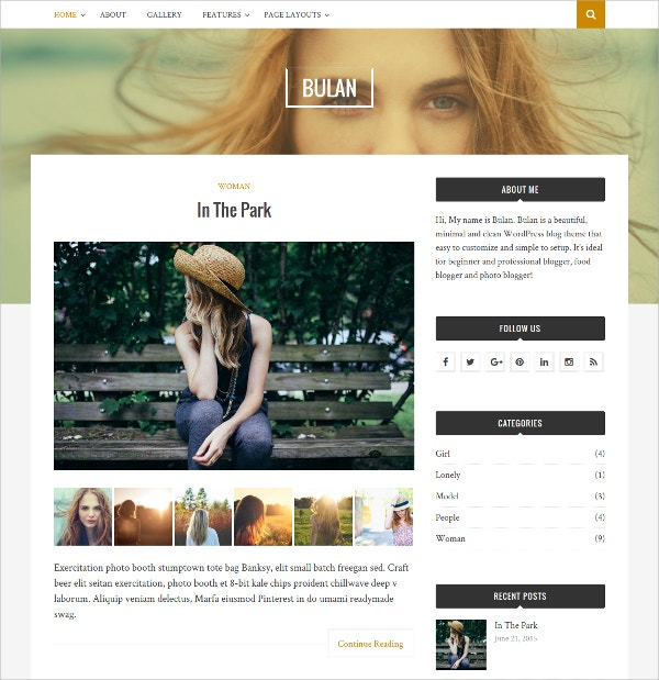 Free WordPress Blog HTML5 Theme