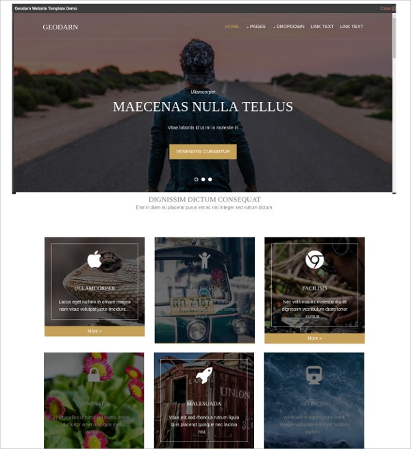 Free Stylish HTML5 Template