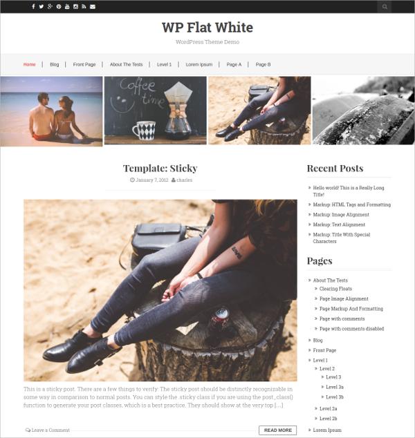 Free Responsive Bootstrap WordPress HTML5 Theme