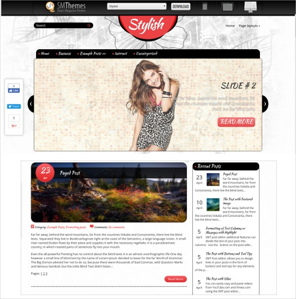 free magazine stylish wordpress theme1